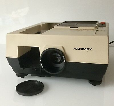 Original Hanimex Rondette 1800RF Slide Projector with Rotary 120 slide magazine