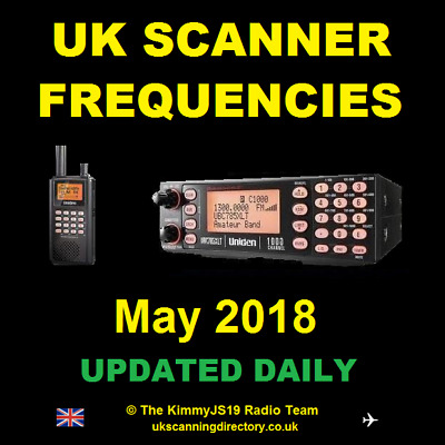 UK SCANNING DIRECTORY May 2018 - Scanner Frequencies CD (Fully Updated)