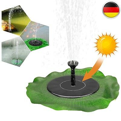 solar pumpe springbrunnen teichpumpe font ne f r garten teich dekor wasserspiel eur 12 99. Black Bedroom Furniture Sets. Home Design Ideas