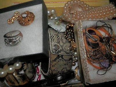 Lot of Estate Sale Jewelry, Lot 24, Some Pieces Intact, Unsearched, Untested
