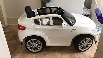 Bmw X6 6 Volt Battery Powered Ride On Kids Toy Car Suv Sounds 2 Mph