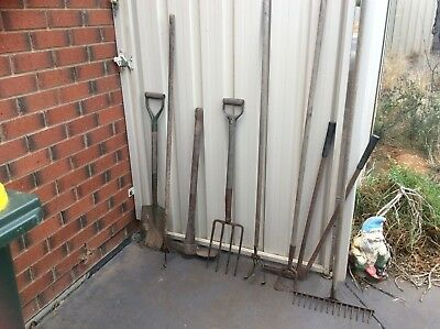 Old Vintage Lot Of Garden Tools