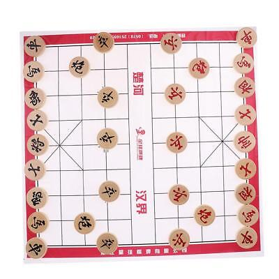 Portable Chinese Chess Chessman Pieces Set XiangQi Board Game Chessboard #3
