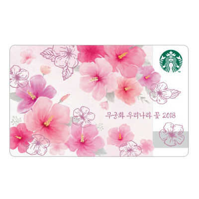 Starbucks Korea 2018 Limited Edition Rose of Sharon Card  Collectible Gift