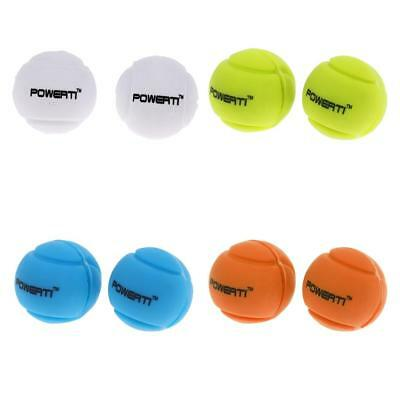 8Pcs Silicone Ball Vibration Dampeners Shockproof for Tennis Squash Racquets