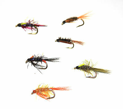 10x or 25x Holographic Diawl Bach Nymphs Trout Flies for Fly Fishing Set M1