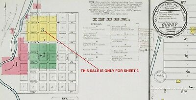 """Ouray, Colorado~Sanborn Map© """"X marks the spot""""~~one sheet 3~~1900 edition"""