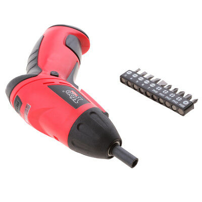 4.8V Cordless Electric Drill Screwdriver Battery Power Tool 10pc Screw Bits