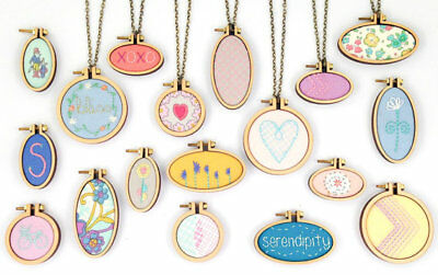 Mini Wooden Embroidery Hoop Kits | Choice of 15 Shapes | For Jewellery, Decor...