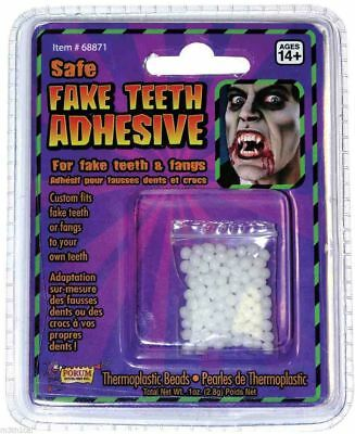 Theatrical Fangs Teeth Custom Fitting Refill Adhesive Beads Kit Accessory