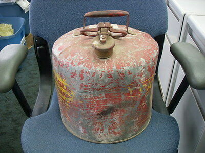 Vintage Eagle Safety Gas Can Vintage 5 Gallon Us Steel Can #1872