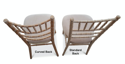 Dry Hire Comfortable Curved Back Limewashed Chaivari Wedding Chairs £3.00 Each89