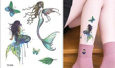 Temporary tattoos Mermaid Glitter Tattoo for women  stickers for adults and kids