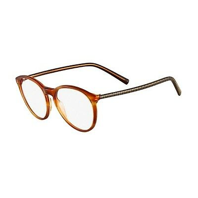 a8ad3d7e152 NEW Genuine Fendi F1021-218 Womens Light Havana Round Keyhole RX Eyeglass  Frames