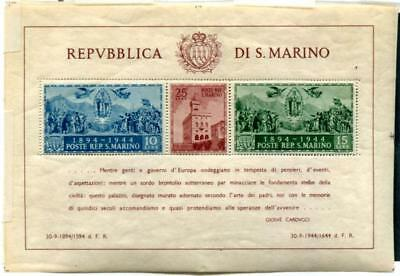 San Marino 239 MNH perf & Imperf S/S, nat.gum wrinkle,tiny corner crease on one
