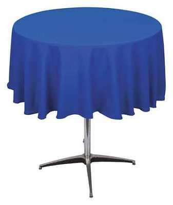 PHOENIX PL72R-BL Tablecloth,Round,72 in.,Royal Blue