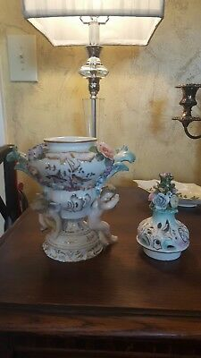 Exquisite Meissen vase. 1st quality.  with removable lid.