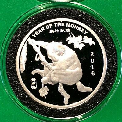 2016 Year Of The Monkey Chinese Zodiac 1/2 Troy Oz .999 Fine Coin Round