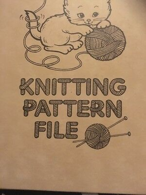 Vintage Knitting Pattern File Holds Up To 60 Large Patterns With