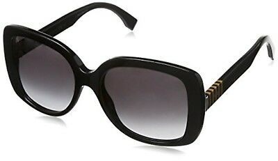 e19dc35664b9 NEW Authentic Fendi FF0014 F S-7SYEU Women s Black Oversized Square  Sunglasses