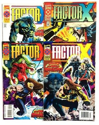 Factor X AofA #1-#4 Complete Series Marvel 1995 VF To NM.  1st App Of Bedlam