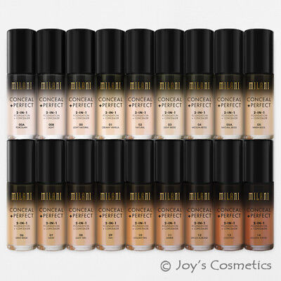 """1 MILANI Conceal + Perfect 2-in-1 Foundation + Concealer """"Pick Your 1 Color"""" Joy"""