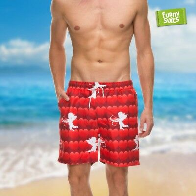 Hearts Lover Swim Trunks Matchmaker Shorts Mens Fits for Suit
