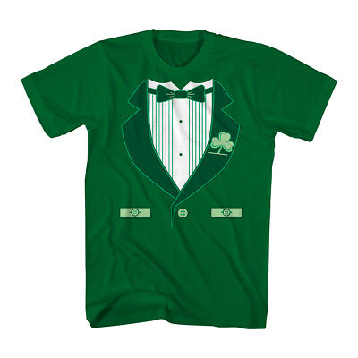 Humor Irish Tux Men's Kelly Green Funny T-shirt NEW Sizes S-2XL