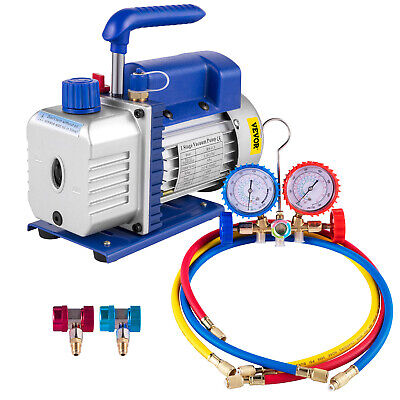 VACUUM PUMP AND Manifold Kit and for Refrigeration split System