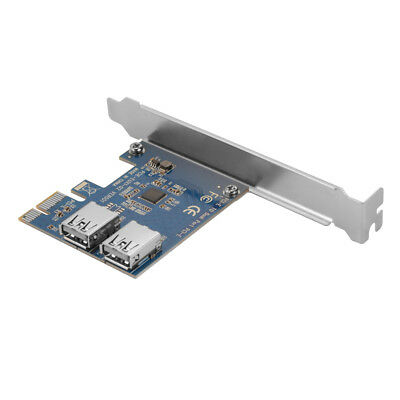 PCI-E PCI Express x1 to Dual USB 3.0 Port Extender Converter Adapter Card AC913