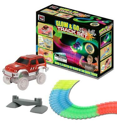 Magic Twister Race Tracks Glow In The Dark Led Light Up Car Bend Flex Kids Toy