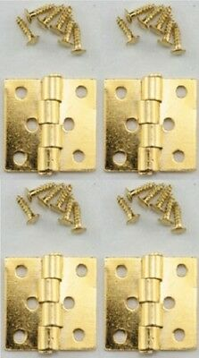 DOLLHOUSE 1:12 w//Nails SILVER 2 Miniature Houseworks CL05541 Door Butt Hinges