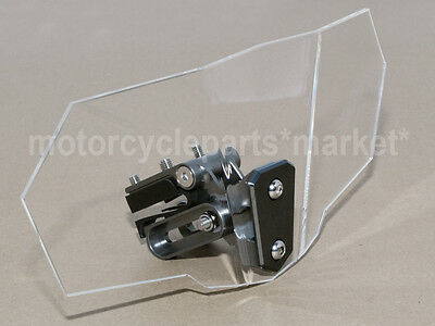 1X Adjustable Clip on Windshield Windscreen Spoiler For BMW G650GS Sertao Clear