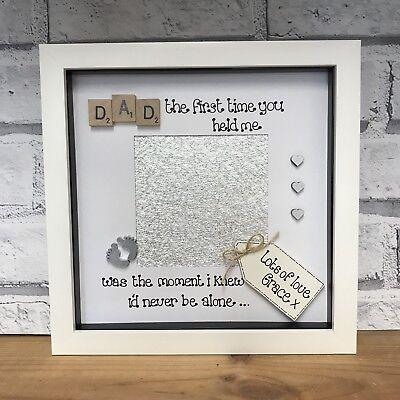 PERSONALISED BOX PHOTO Frame Fathers Day Dad Daddy Baby Gift ...