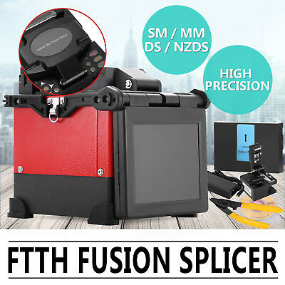FTTH Fiber Optic Splicing Machine Fusion Splicer Cooling Tray Manual Battery LCD