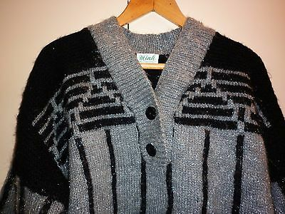 1980s CRAZY CHUNKY JUMPER SIZE L EXCELLENT CONDITION