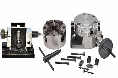"ROTARY TABELLE 4"" mit 100 MM INDEPENDENT CHUCK + REIT & SPINNT KIT"