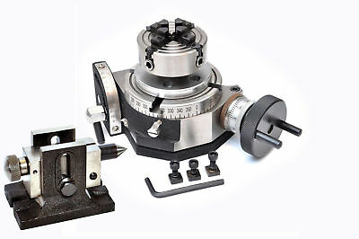 "ROTARY TABELLE 4"" KIPPEN mit 70 MM INDEPENDENT CHUCK + SINGLE BOLT REIT"