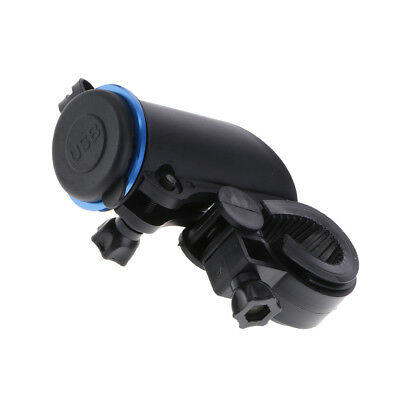 Fixed Motorcycle Car Dual USB Power Supply Charger Port Socket