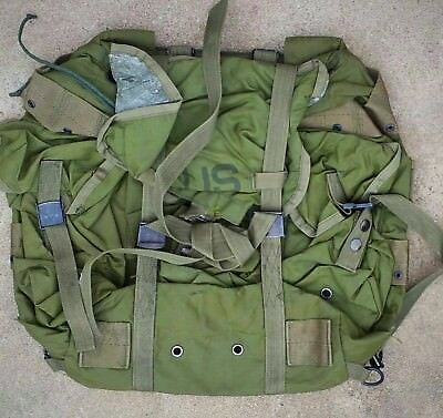 Used Combat Field Hunting Pack Alice Rucksack OD green, No Frame Or Straps