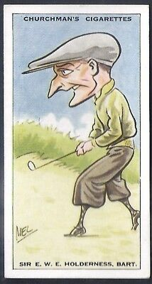 Churchman-Prominent Golf Ers (Standard Size)-#21- Sir Holderness