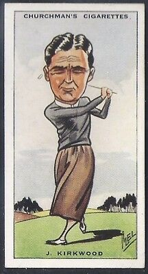 Churchman-Prominent Golf Ers (Standard Size)-#27- Joe Kirkwood