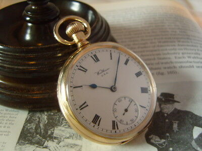 Pocket Watch Antique 1907 Waltham Usa 7 Jewel 10Ct Gold Filled Dennison Case Fwo