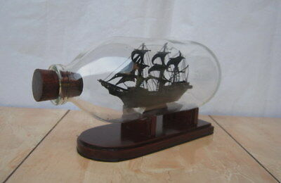"""Black Pearl Pirates"" Miniature Ship in a Bottle Very Rare and Unique Handmade"
