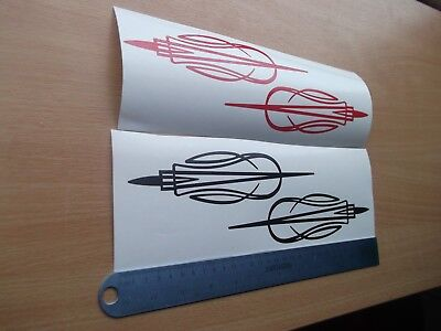 PINSTRIPE DESIGN Car/Bike Vinyl Graphic Sticker Decal x2