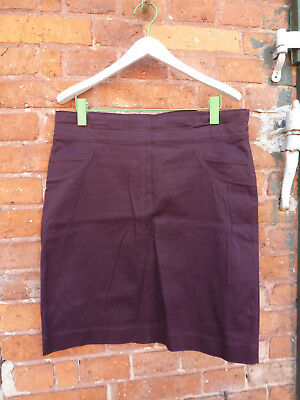Collection Linique, Umstands-Jeansrock, Gr.36, BW ~92, innen Gummiband, bordeaux