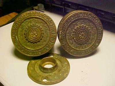 Pair Of Solid Brass Door Knobs Victorian Style From The Early 1900,s