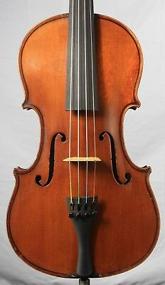 Vintage old antique 4/4 Fine Violin German Eduard Reichart Dresden 1896    KV003