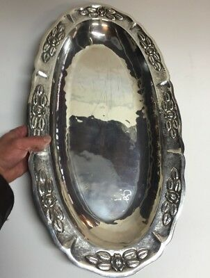 HUGE 2 Ft Mexican Sterling Silver Platter Tray for Coffee/Tea Set 64 OZ Maciel