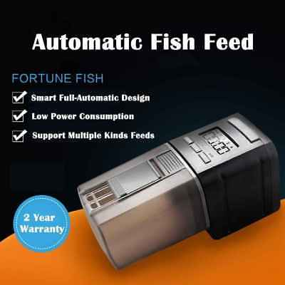 Automatic Fish Food Feeder LCD Aquarium Pet Tank Digital Auto Feeding Timer